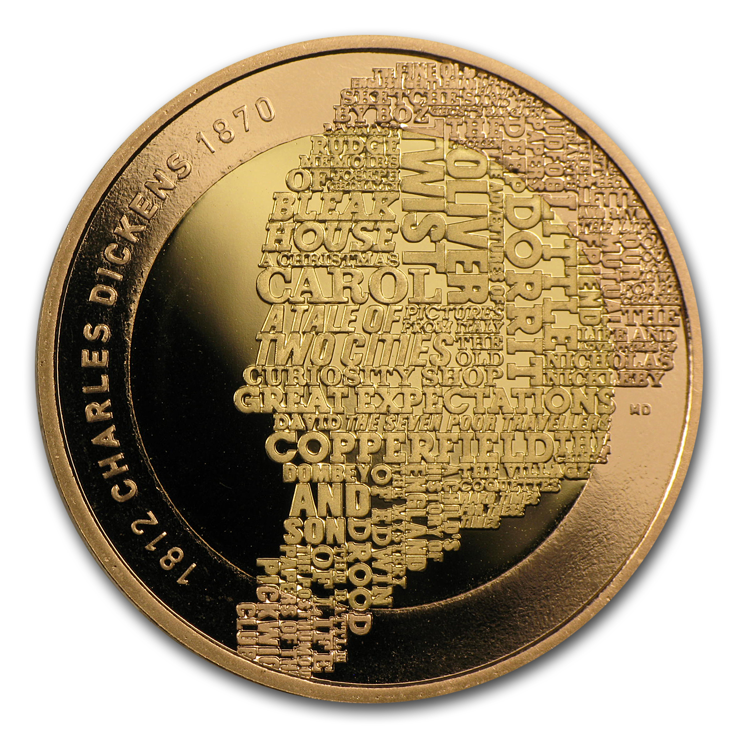 2012 Great Britain £2 Gold Proof - Charles Dickens 200th Anniv.
